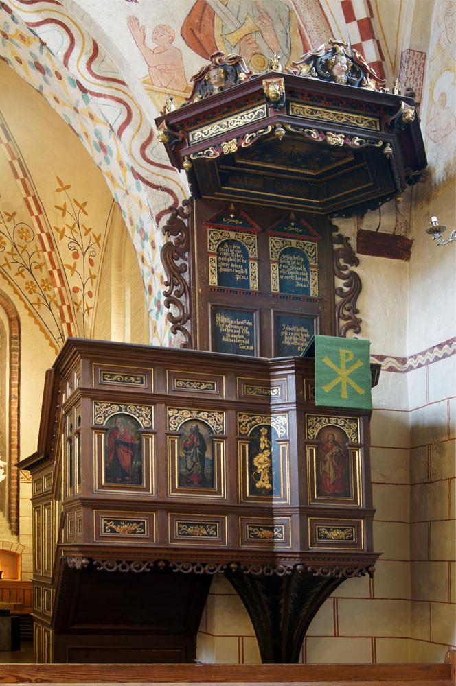 Maria-Magdalenen-Kirche zu Berkenthin - Kanzel             /Foto  Manfred Maronde
