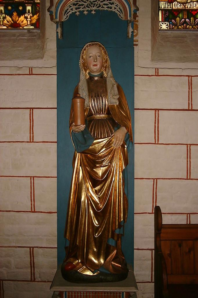 Die Staue der Namenspatronin Maria-Magdalena       /Foto P.Lüneburg