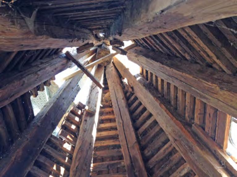 2014-08-13 Blick in die Kirchturmspitze        /Foto Klaus Jungk