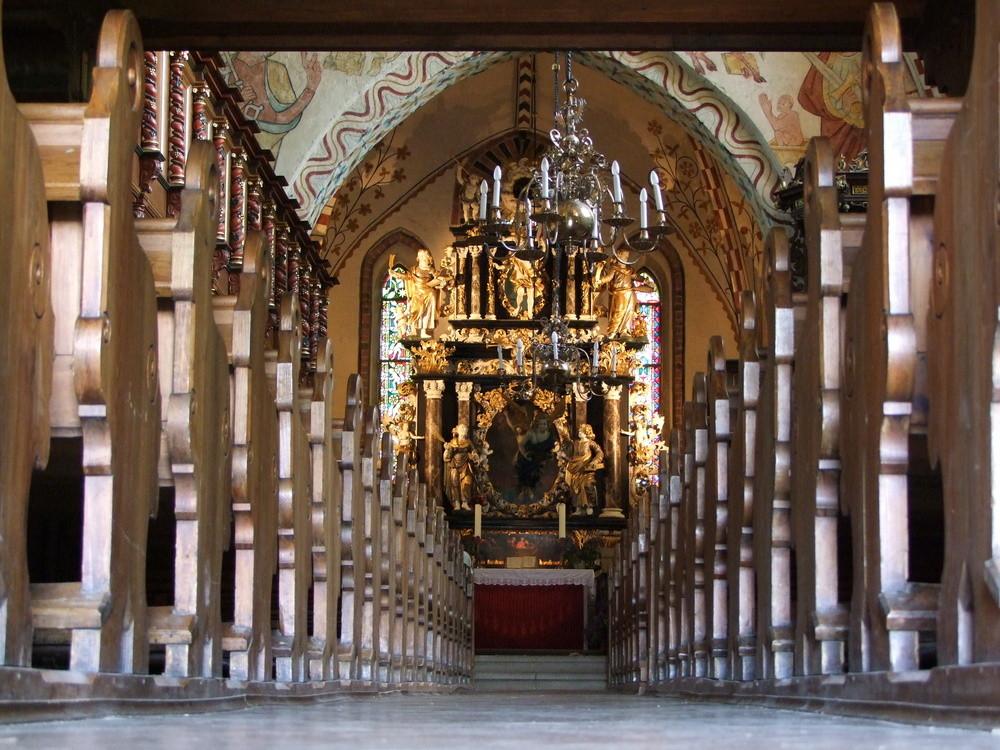 Maria-Magdalenen-Kirche zu Berkenthin - Kirchenschiff        /Foto R. Römer