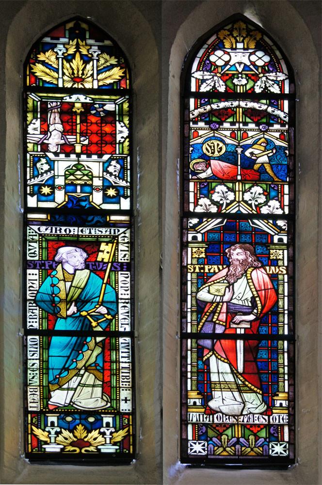 Maria-Magdalenen-Kirche zu Berkenthin - Kichenfenster im Altarraum     /Foto  Manfred Maronde