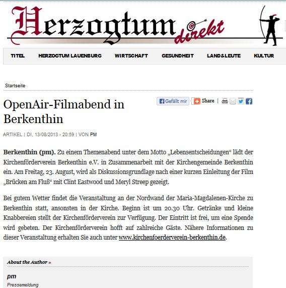 13. Aug.2013 - Herzogtum Direkt - OpenAir-Themenabend