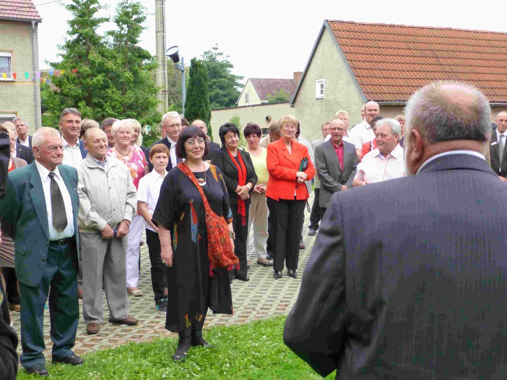 Prößdorf 600 Jahr-Feier 2013; Ehrentafel Einweihung 2