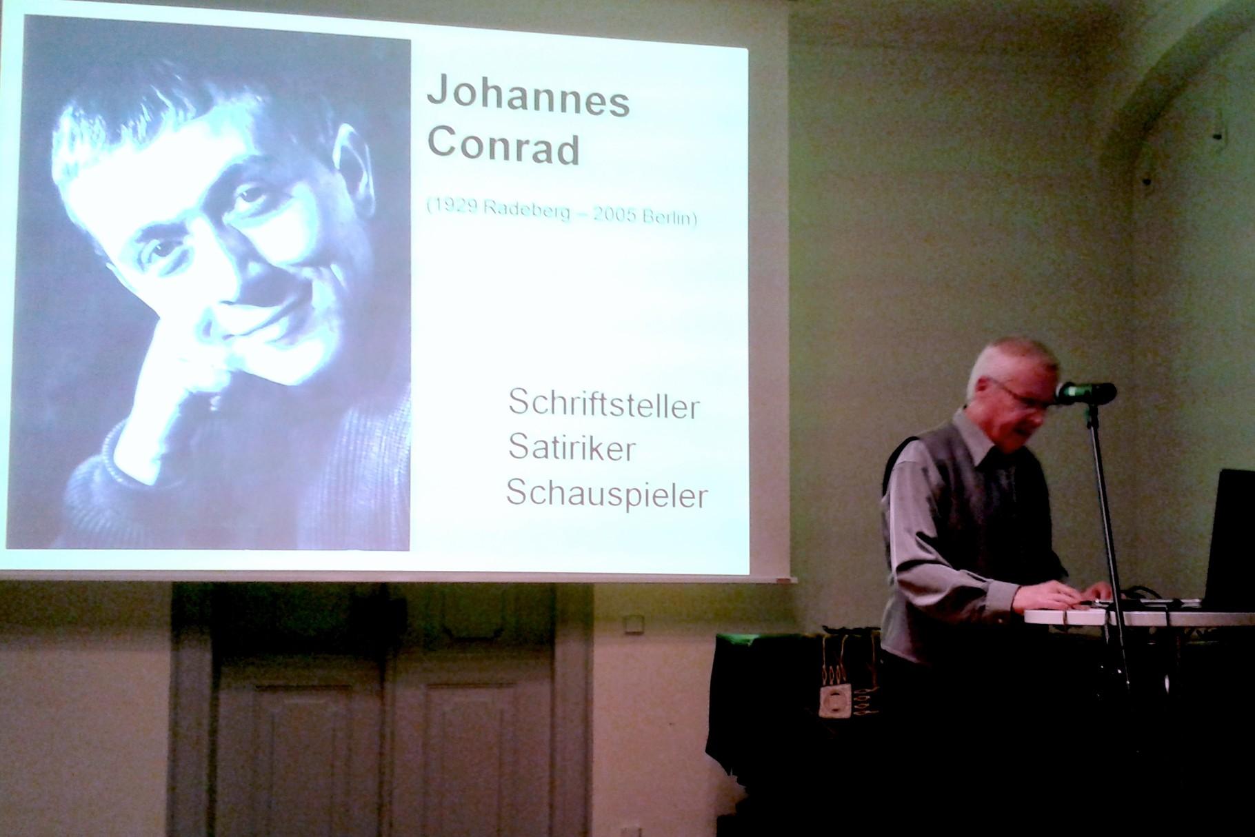 """Vortrag """"Johannes Conrad"""" im Schloss Klippenstein Radeberg am 22. Okt. 2015"""