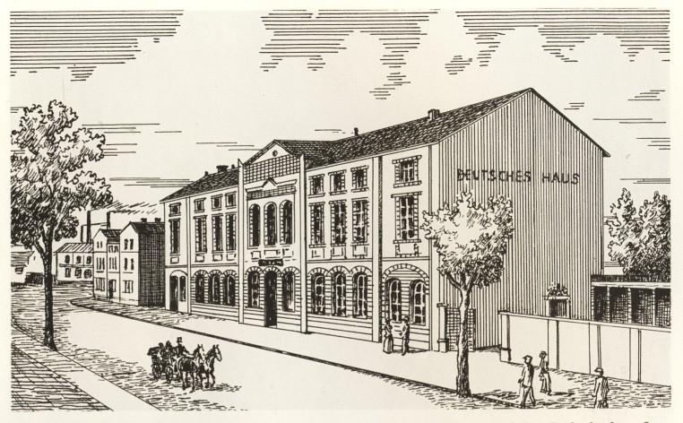 Deutsches Haus Radeberg ca. 1875
