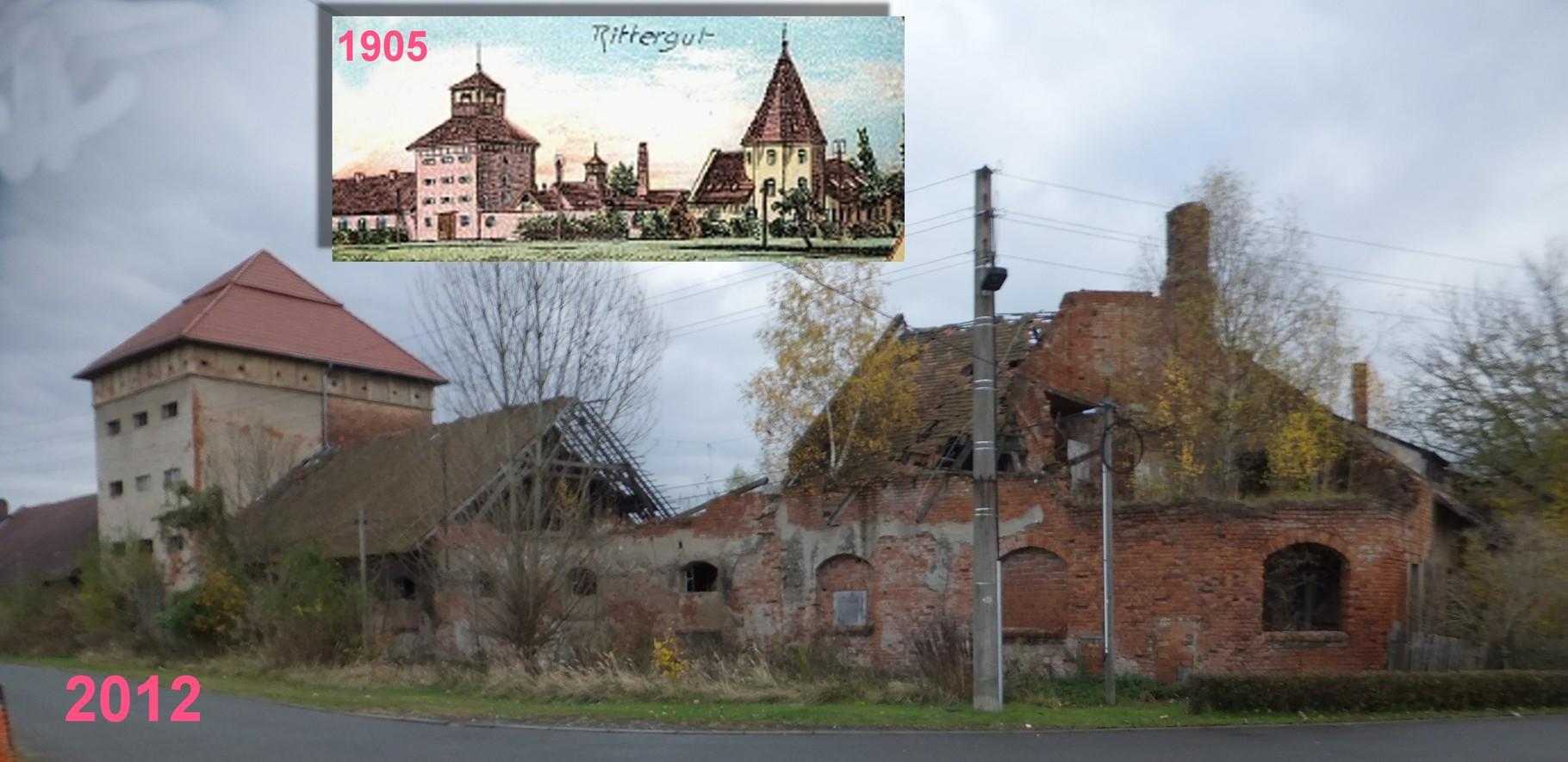 Falkenhain Minckwitz'sches Gut einst und heute