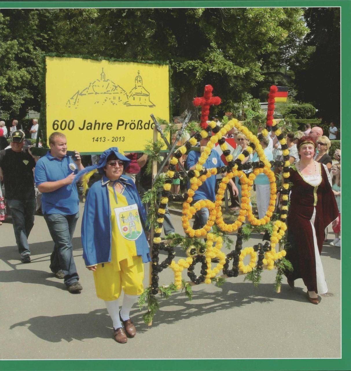Prößdorf 600 Jahr-Feier 2013; Festbuch-Titelbild