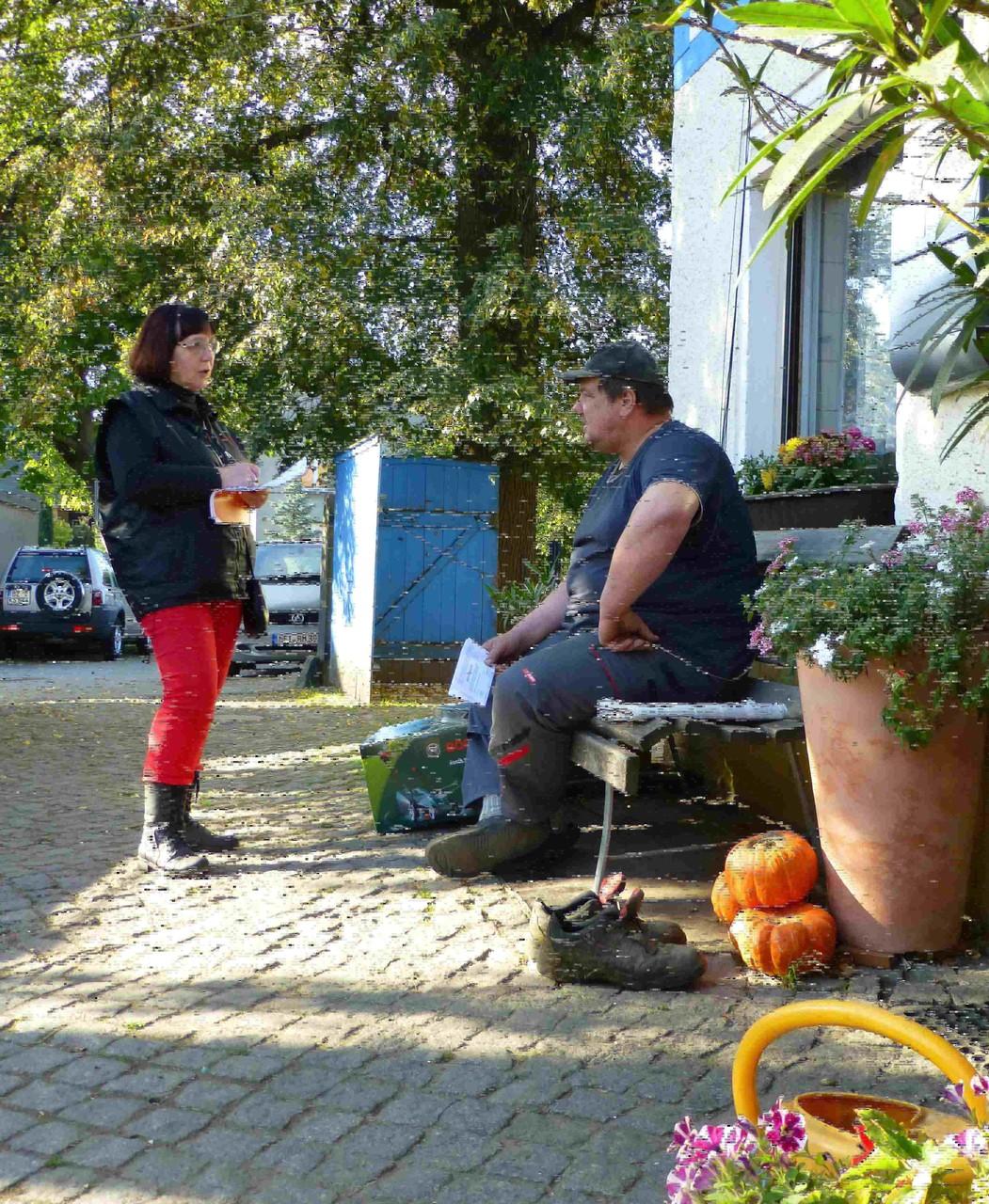 Oese-Hof, Tag der Einheit - 3. Oktober 2015.  9:30:   Das Interview mit Jung-Bauer Karl  Oese läuft...