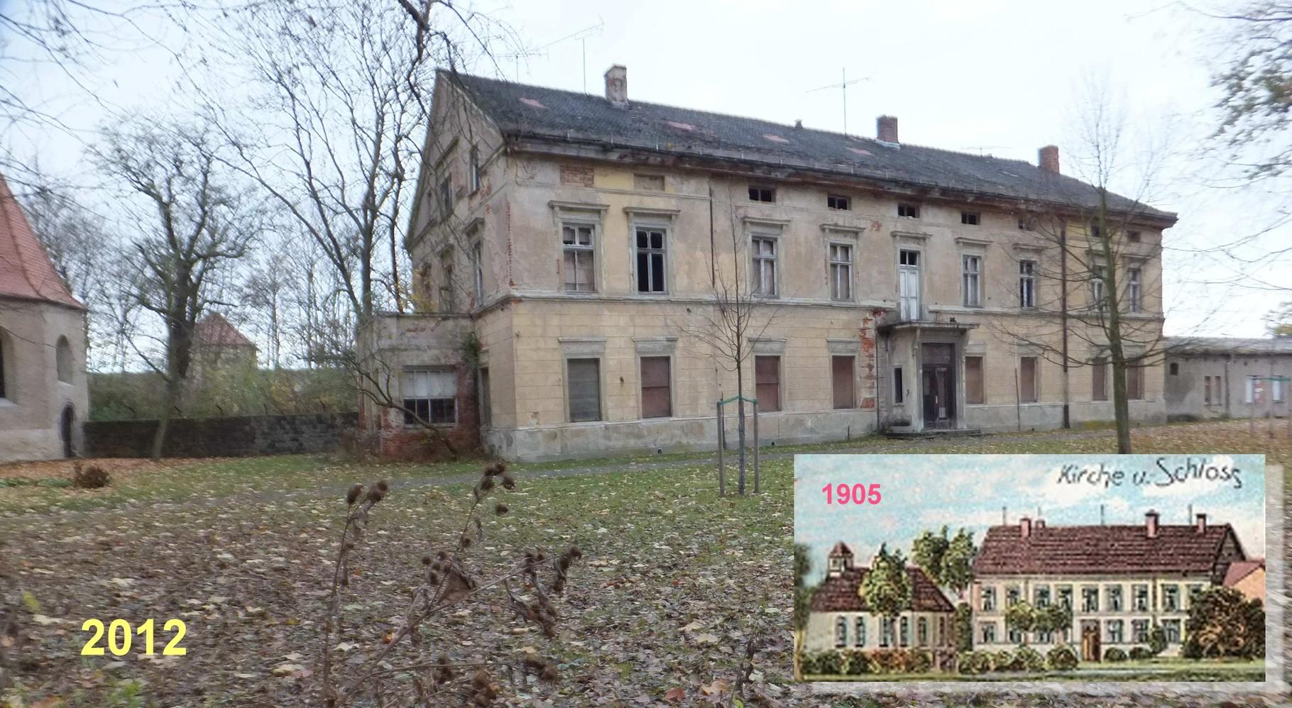 Falkenhain Minckwitz'sches Schloss einst und heute
