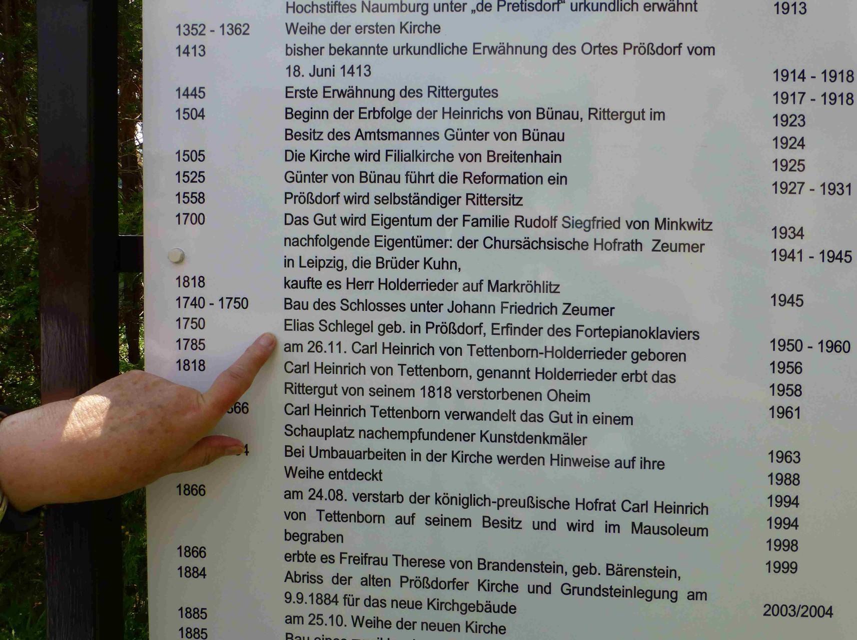 Prößdorf 600 Jahr-Feier 2013; Elias Schlegel Ehrung