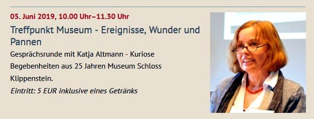 Treffpunkt Museum April 2019 (richtig muss es heißen: 25 Jahre Neues Museum)