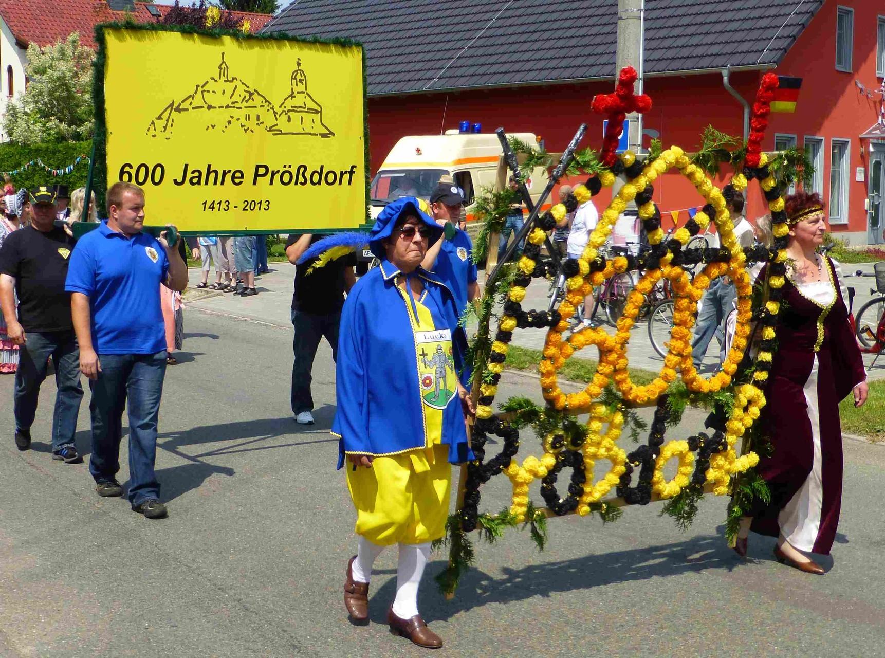Prößdorf 600 Jahr-Feier 2013; Festumzug 1