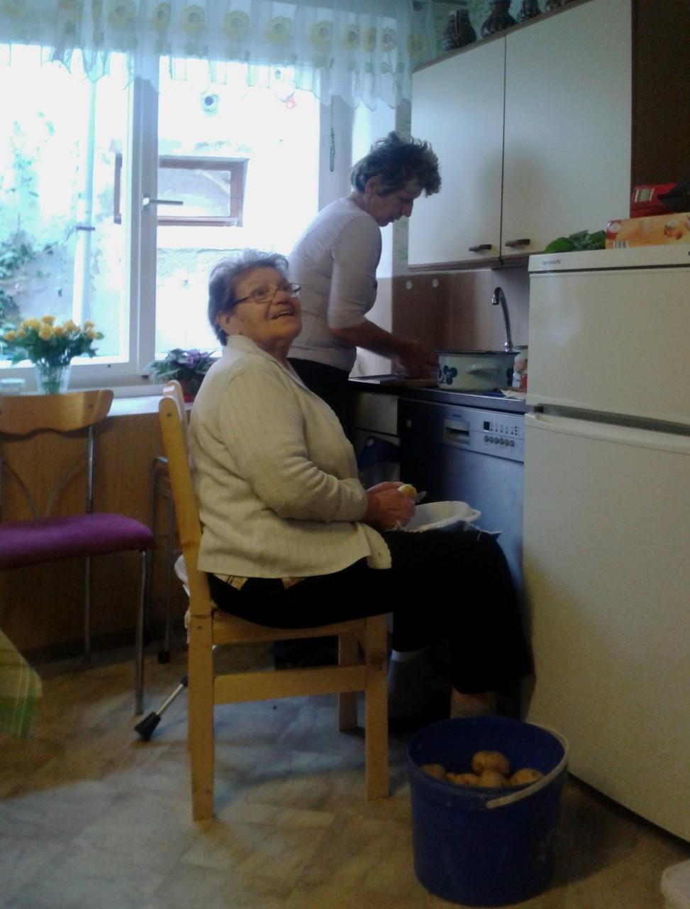 Das Reich von Oma Oese - die Küche, der zentrale Punkt für die gesamte Familie