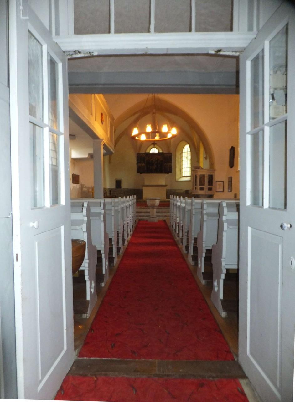 Falkenhain Kirche Einblick