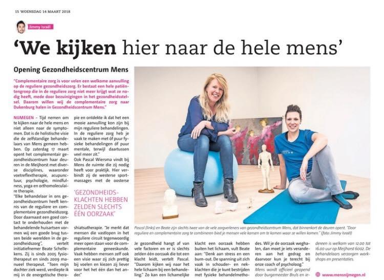Interview Beate Schellekens en Pascal Wiersma voor De Brug