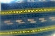 琉球藍で染められた八重山上布の帯です。