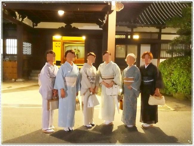 大阪・堺・神戸から集まった生徒さんたちです。思い思いのきもの姿が素敵です。