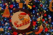 クリスマスのイルミネーション。阪急西宮ガーデンズにて。
