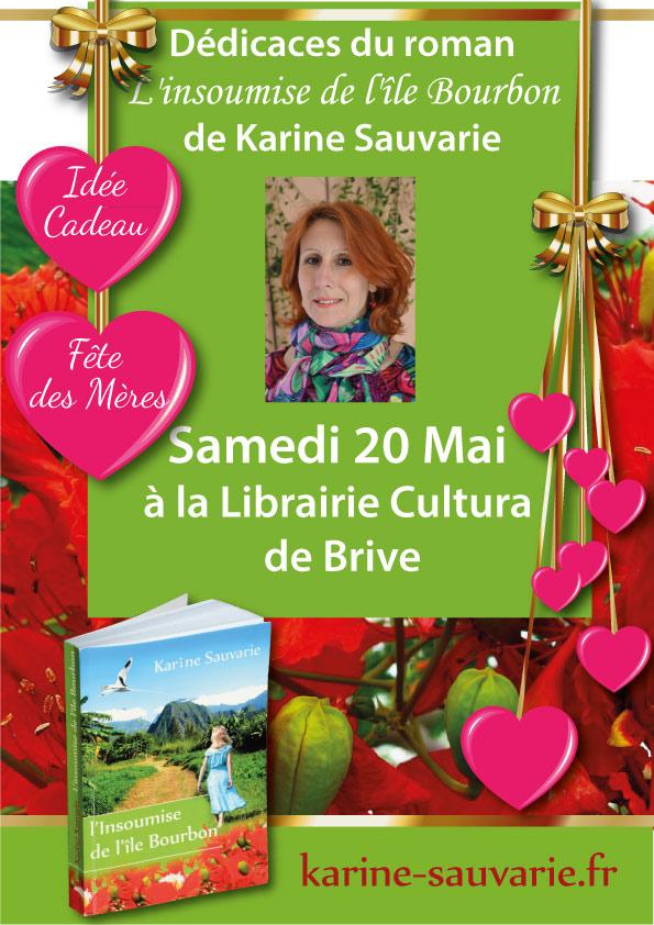 """Affiche promotionnelle pour le roman """"L'insoumise de l'île Bourbon"""" de Karine Sauvarie"""