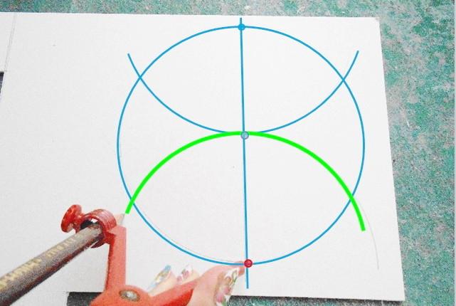 カルトナージュの作り方_六角形の描き方_04