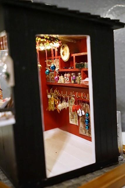 Miniatur-Weihnachtsmarktstand
