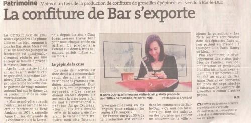 L'Est Républicain samedi 15 mai 2010