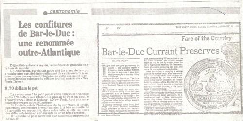 Extrait du New York Times janvier 1983