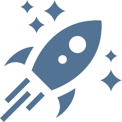 pictogramme fusée qui décolle