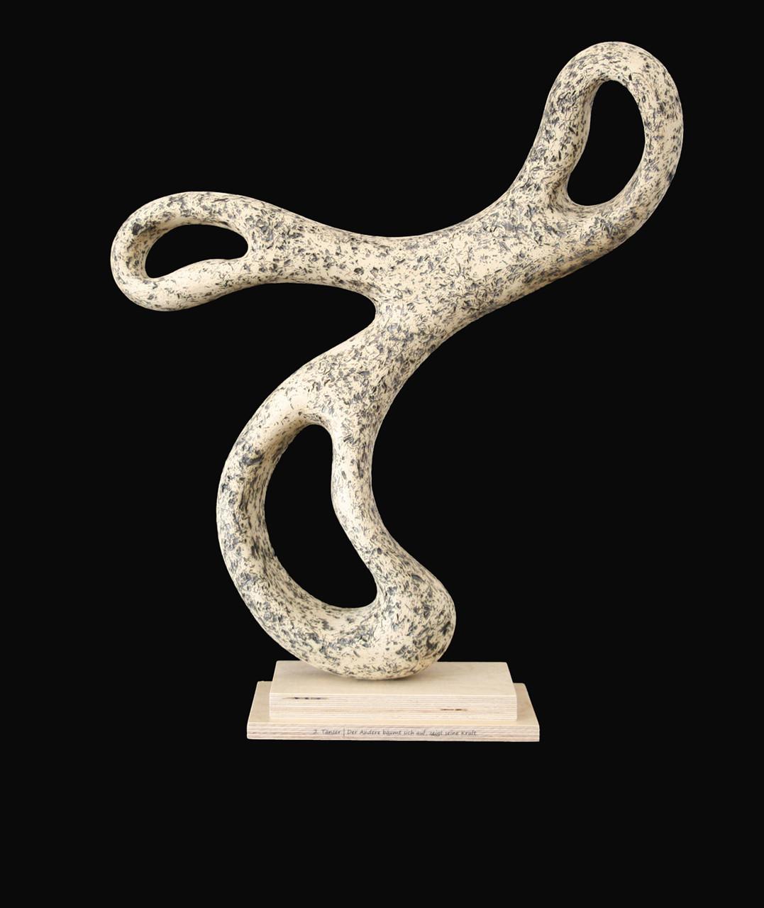 2. Tänzer | Der Andere bäumt sich auf, zeigt seine Kraft. | BxHxT: 40x48x12 cm
