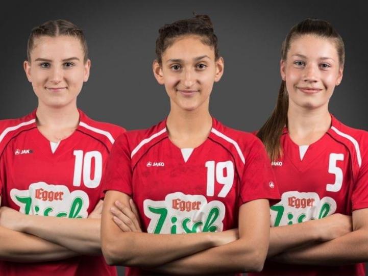 Wir gratulieren unseren Hanballerinnen Melissa Begovic, Djellza Hetemaj und Katrin Betz zur Einberufung in das Nationalteam 2002! Foto: Patrick Sal