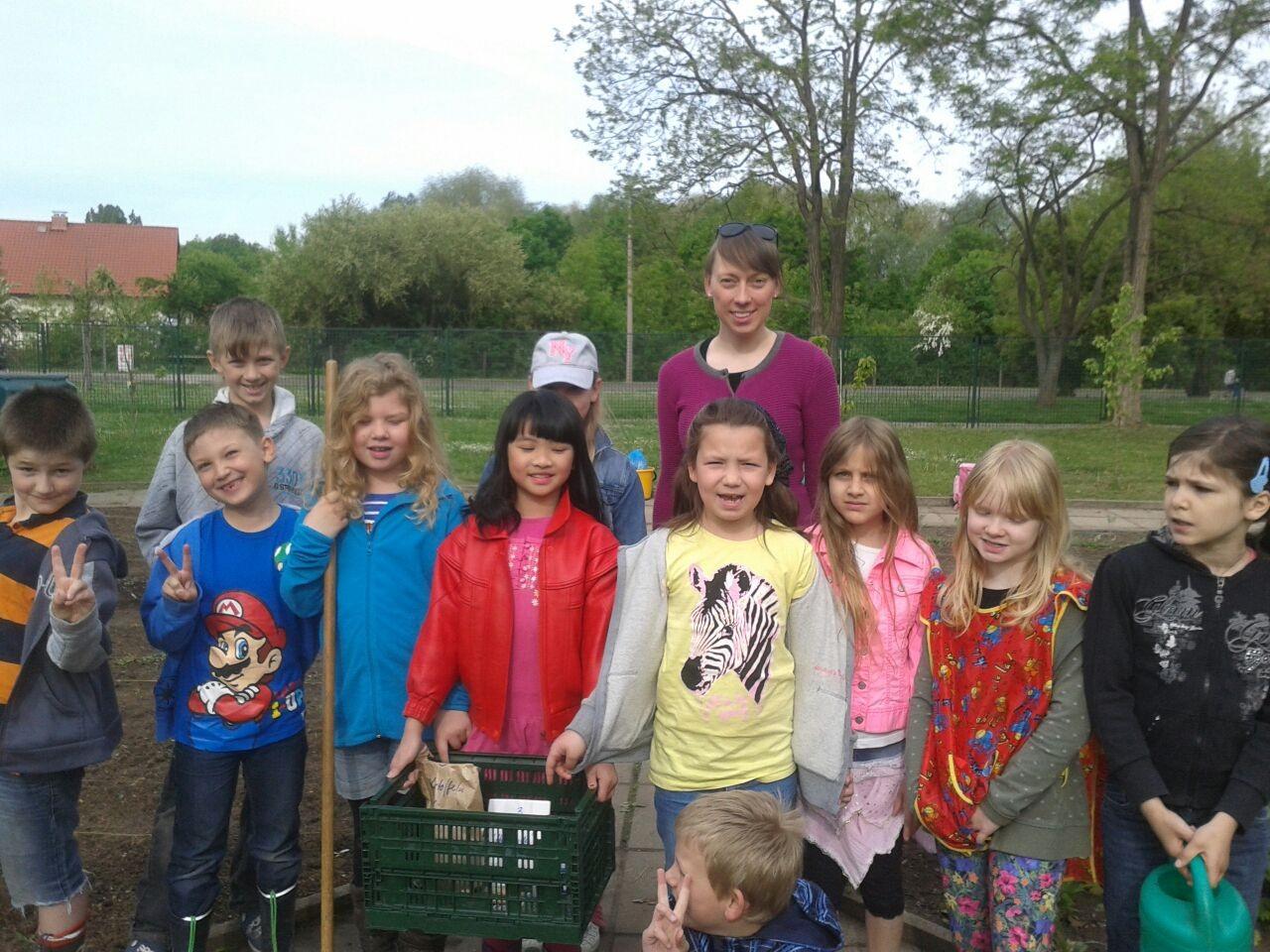 Die Kinder von der Grundschule am Roten Berg.