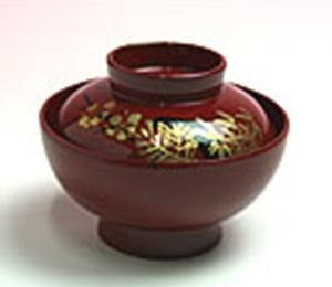 汁椀  すまし汁 実は鯛、鯉または蛤  φ8.0cm×4.0cm(身の径、高さ)