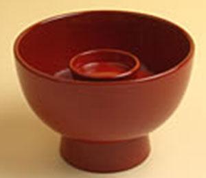 親碗(飯椀)  赤飯 または白飯  φ8.5cm×6cm(高さ)