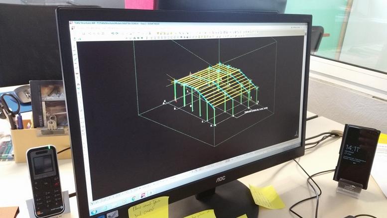 Plan bâtiment charpente métallique