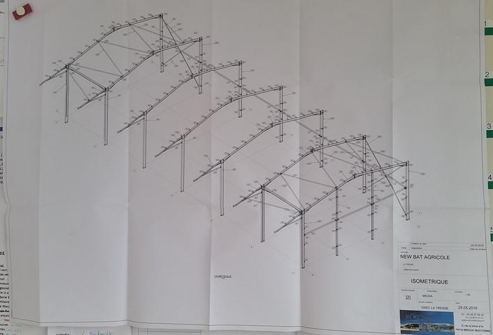 Plan bâtiment agricole
