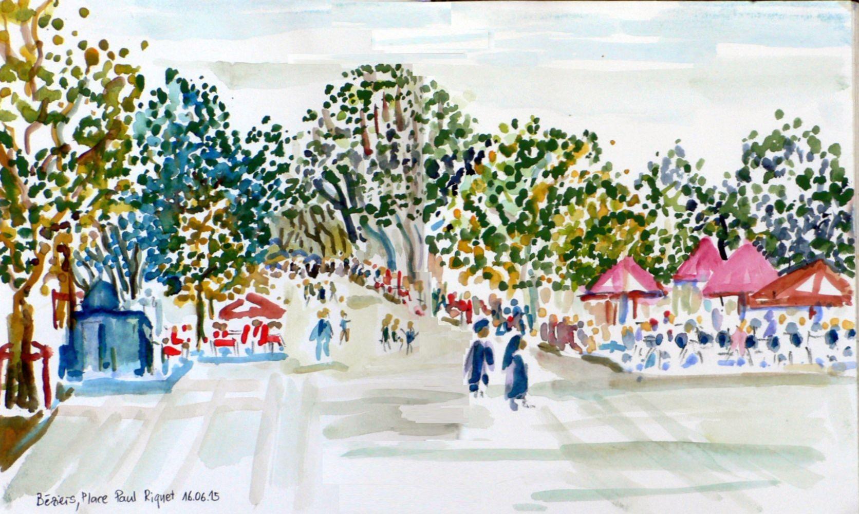 Béziers - Place Paul Riquet