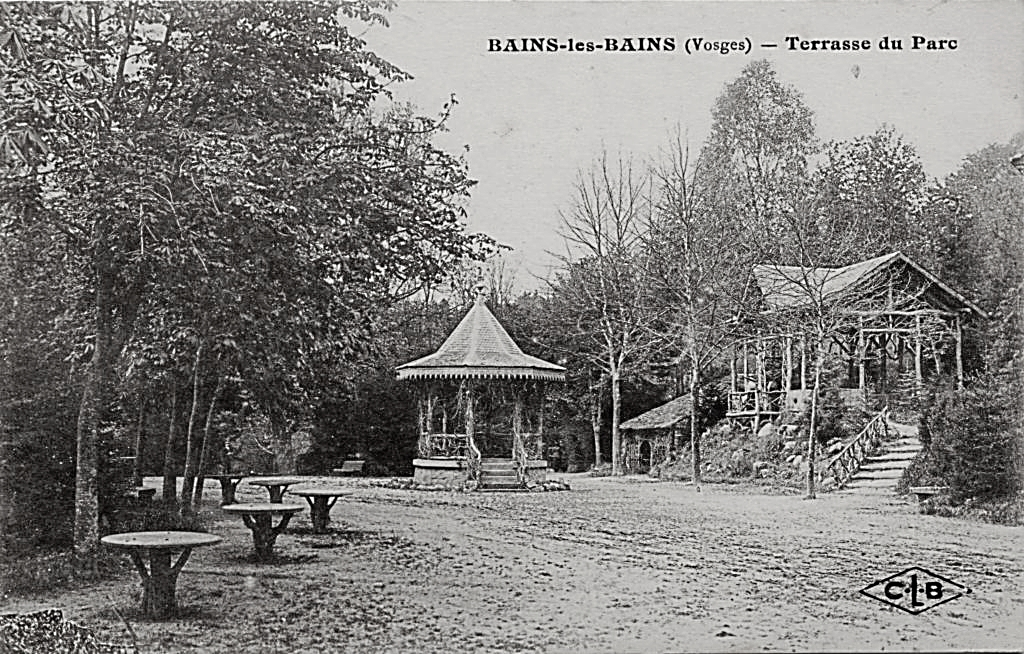 Parc de l'Etablissement Thermal - 1896 - Le Kiosque et le Tea Room