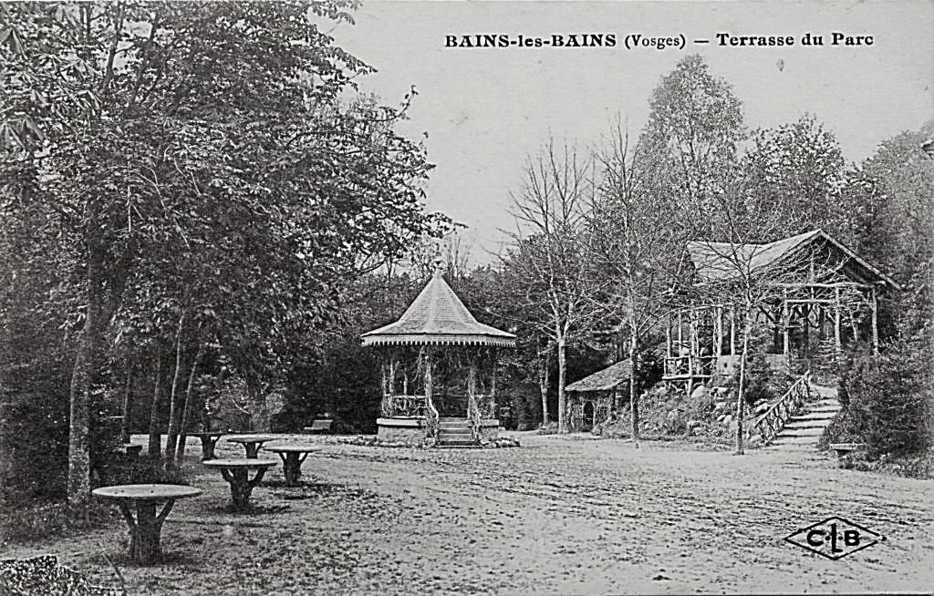 Parc de l'Etablissement Thermal - 1896 - Le Kiosque et le Tea Room