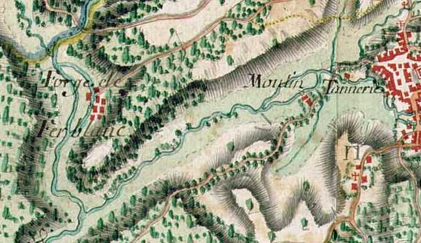 Carte ancienne des lieux