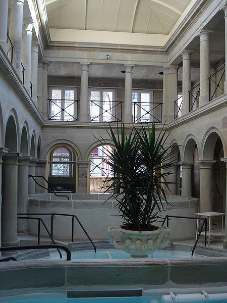 L'intérieur de l'ancien Bain Romain