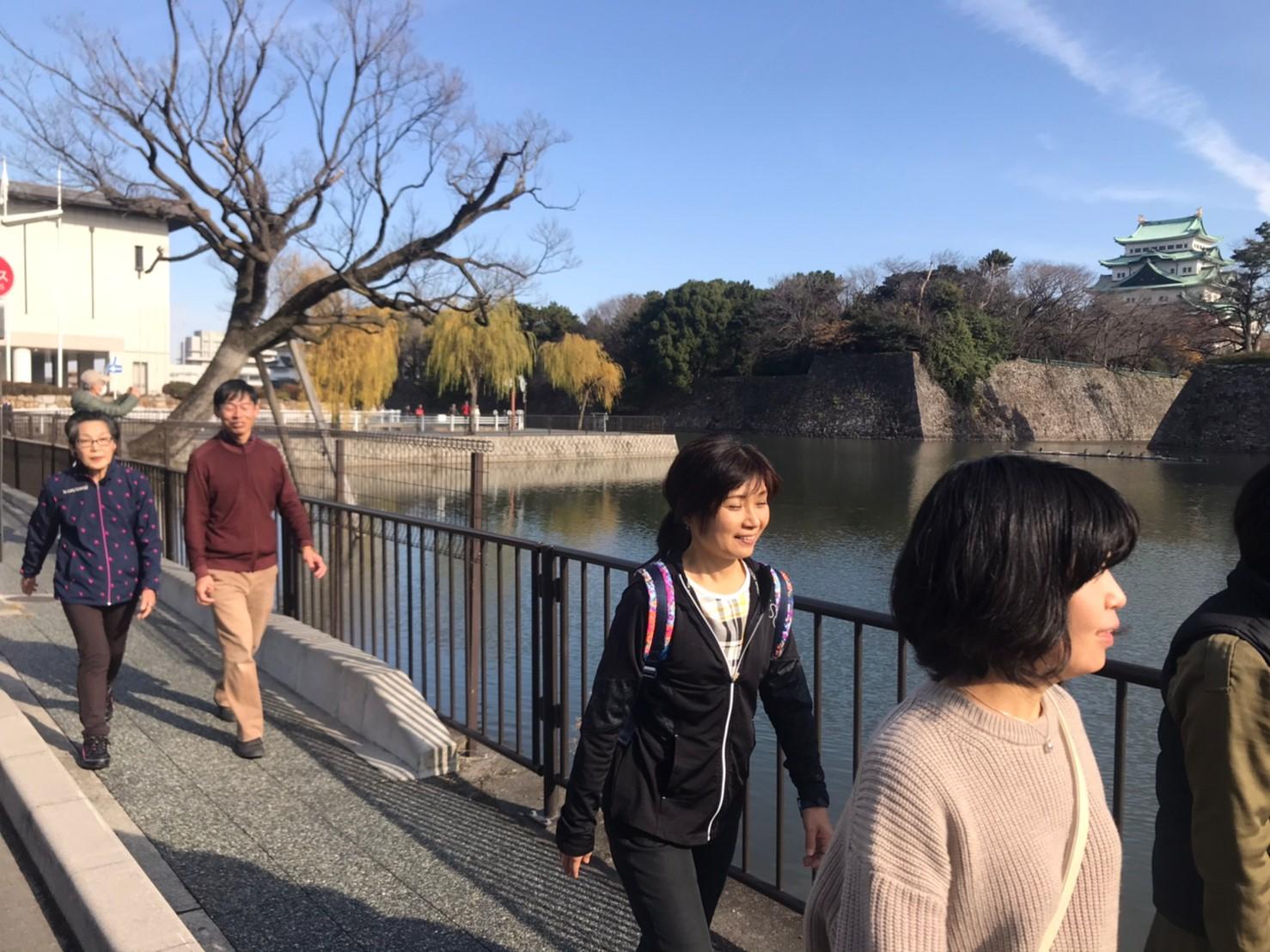 名城公園と名古屋城の外周をぐるっと