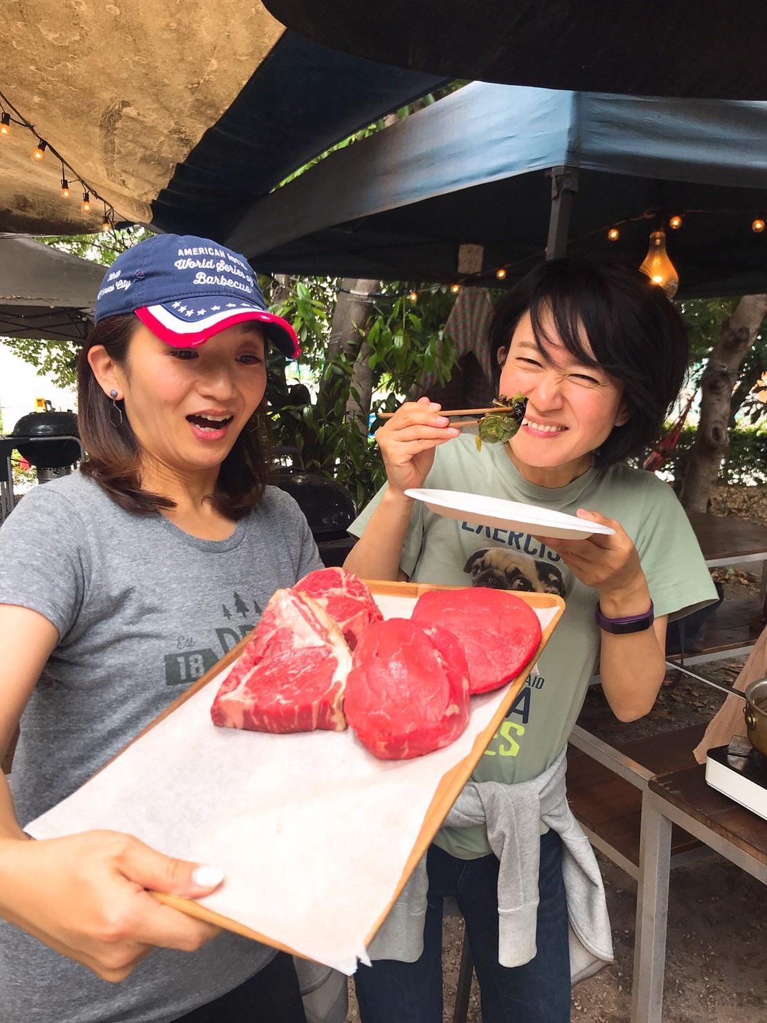 美味しいお肉をみんなで堪能させていただきました〜🎶