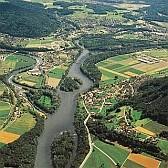 Die Flüsse Aare, Limmat und Reuss aus der Vogelperspektive.