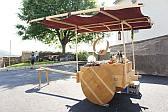 Römischer Marktstand mit Rädern.