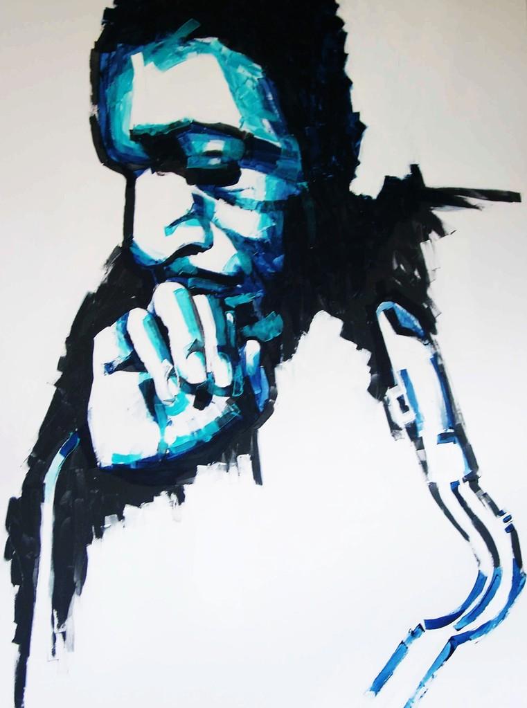 JOHN COLTRANE   140 x 180   Acryl   2003