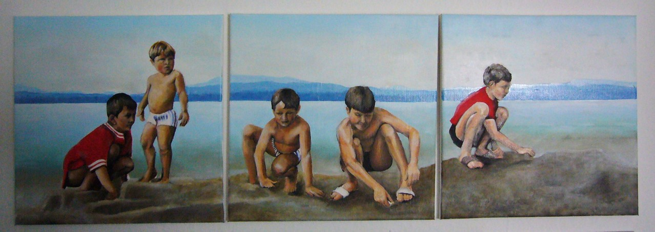 AM FAAKER SEE 1968   jeweils 40 x 40   Öl   2012