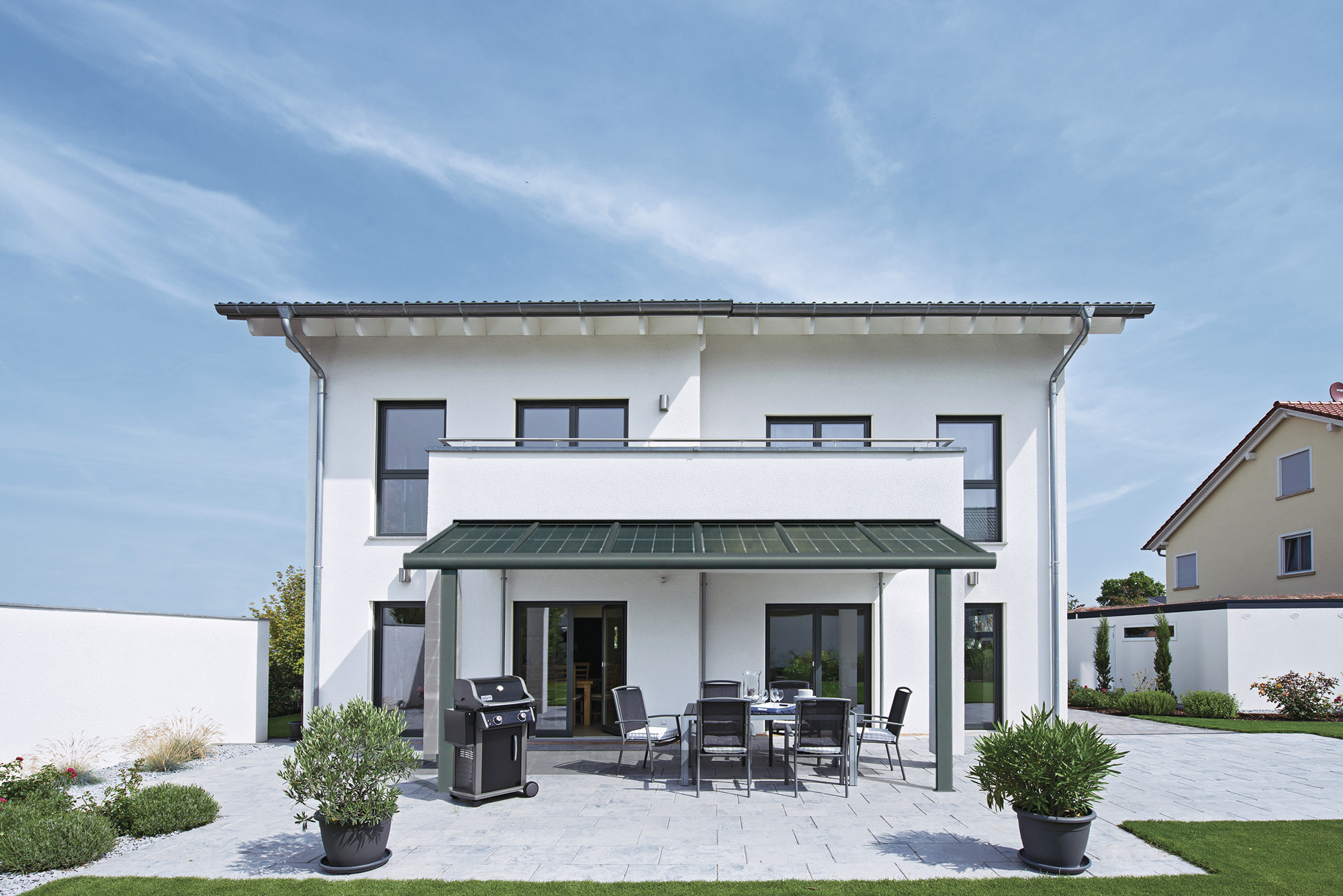 Modernes Terrassendach