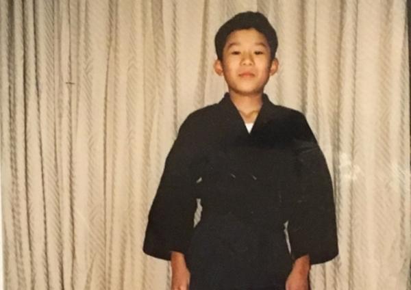 剣道着姿の記念写真