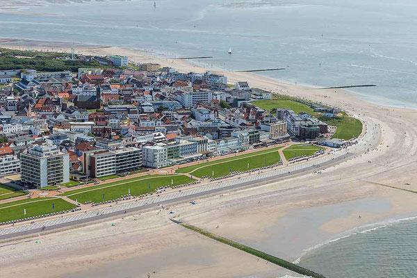 Luftbild von Norderney - Ferienwohnungen Norderney - norderney.top