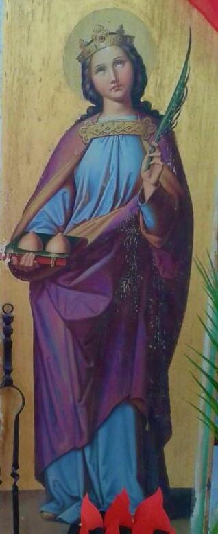 Bild der Heiligen Agatha (Foto von Birgit Häusler)